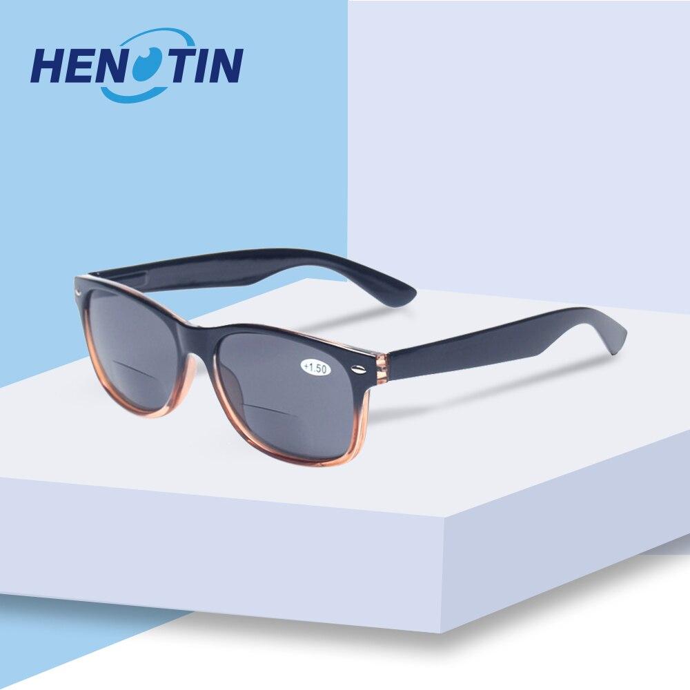 Бифокальные очки для чтения с серыми линзами Модные мужские и женские весенние петли пластиковые очки пресбиопии уличные солнцезащитные очки для рыбалки
