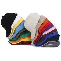 plain solid color baseball caps 22 multicolor men women visor hat adjustable nylon fastener tape casual sports hats wholesale