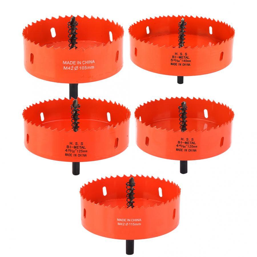 M42 105mm/115mm/120mm/125mm/140mm  Bi-Metal Hole Saw Metal Sheet Hole Cutter Holesaw Cutter Cutting Drill Bit