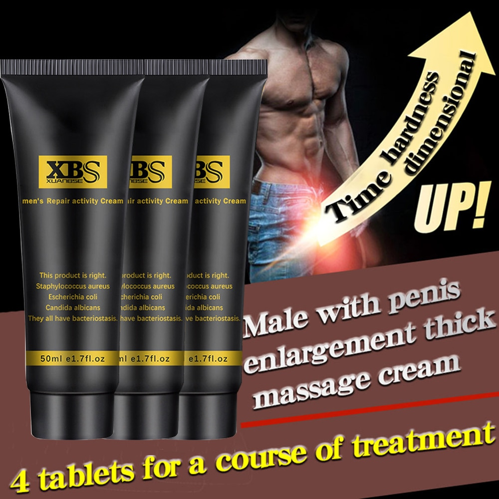 4 Uds Crema para alargamiento de pene Aceite de Masaje Original de 50ml para aumento a Xxl pene tamaño retraso eyaculación potenciador píldoras afrodisíacas
