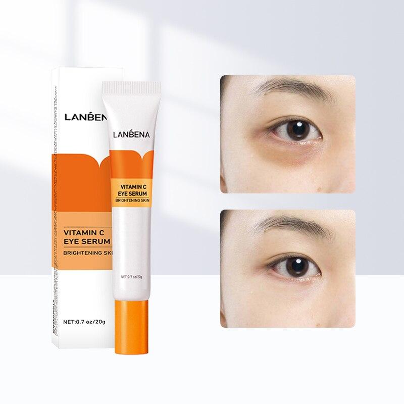 Eye Cream Vitamin C Peptide Collagen Serum Anti-Wrinkle Anti-Aging Remover Dark Circles Eye Care Against Puffiness Eyes Bag 20g недорого