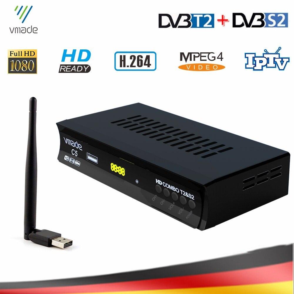 DVB-T2 DVB-S2 комбо ТВ тюнер с USB WIFI HD цифровой спутниковый ТВ приемник Поддержка IPTV Dolby AC3 Cccam наземный ТВ-приставка