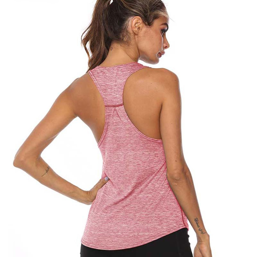 Sleeveless Racerback Sexy Vest Sport Singlet Women Athletic Fitness Sport Tank Tops Gym Running Training fashion Shirts