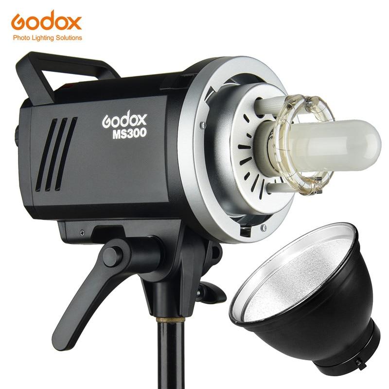 Godox-فلاش حامل Bowens MS200 ، 200W أو MS300 300W ، 2.4G ، جهاز استقبال لاسلكي مدمج ، مصباح استوديو خفيف الوزن مدمج ومتين