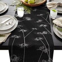 Blume Lycoris Radiata Hochzeit Tisch Läufer Kaffee Tisch Dekoration Home Garten Tisch Tuch