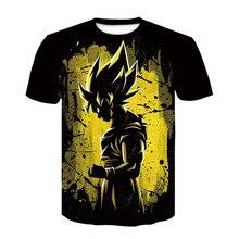 Nouveau 2019 hommes 3D T-shirt Dragon Ball Z Ultra Instinct Goku Super Saiyan dieu végéta Dragon Ball imprimé T-shirt dété hauts