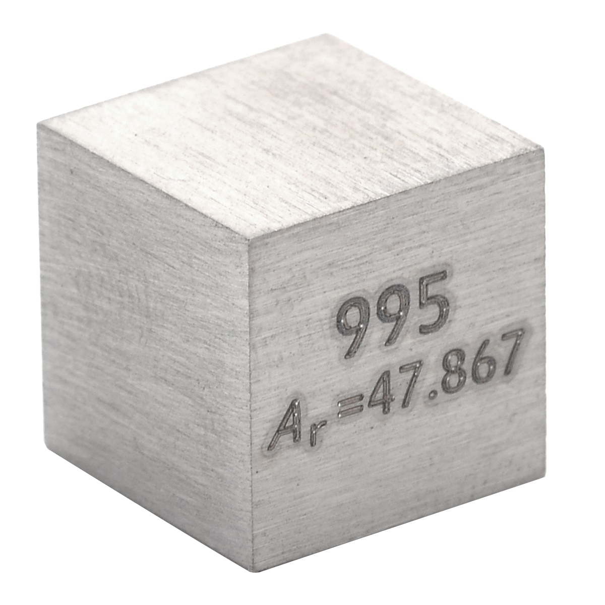 1Pcs 99.5% High Purity Metal Ti Block Pure Titanium Cube 10mm Carved Element Periodic Table Collection For Class Teaching Tools недорого