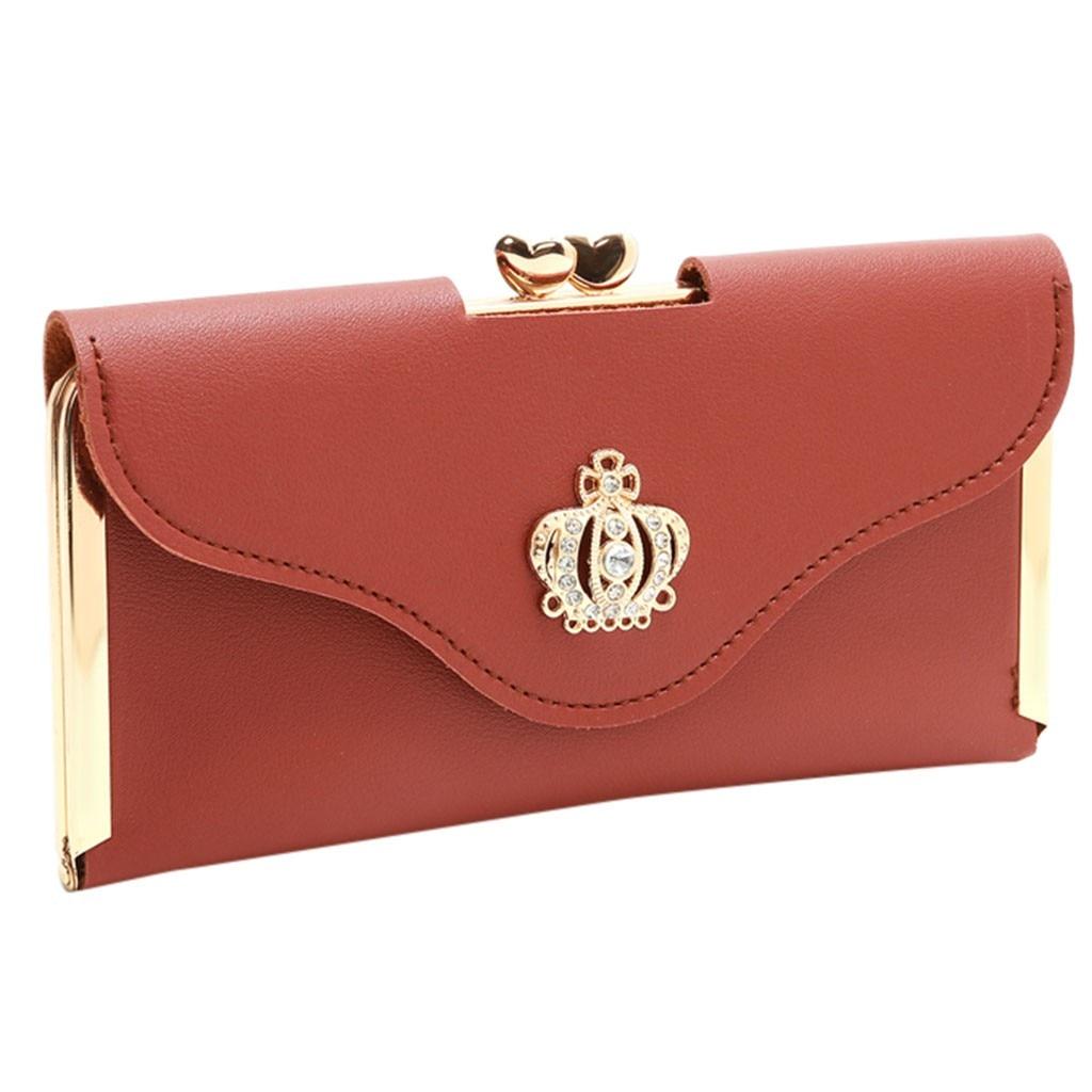 MAIOUMY bolso Vintage tipo cartera, bolso de mano con corona de diamantes, bolso para teléfono móvil, bolso largo de noche para mujer, bolso de mano con Banco de dinero, 19DEC5
