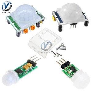 HC-SR501 HC-SR505 Adjust IR Pyroelectric Infrared PIR Module AM312 Motion Sensor Detector Module with HC-SR501 Bracket Diy