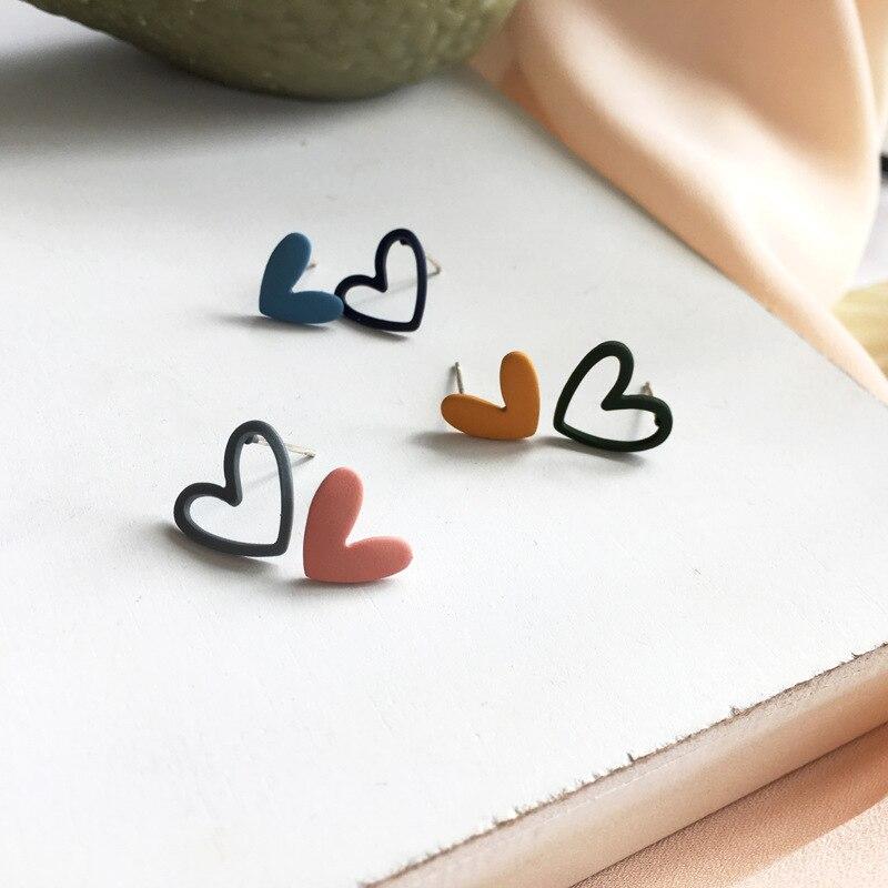 AliExpress - Daily Colorful Hearts Beautiful Stud Earrings for Girls Love Cute Christmas Earrings