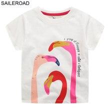 SAILEROAD t-shirts pour enfants   Vêtements dété à manches courtes, en coton, imprimés danimaux, pour filles, nouveauté 2020