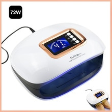 72W UV Lamp LED Nail Lamp Nail Dryer For Manicure Machine Curing Nail Gel Polish Auto Sensor Two Hand Lamp Nail Art Tools