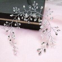 Женская свадебная повязка на голову, белый обруч для волос, свадебные аксессуары для невесты Свадебные головные украшения      АлиЭкспресс