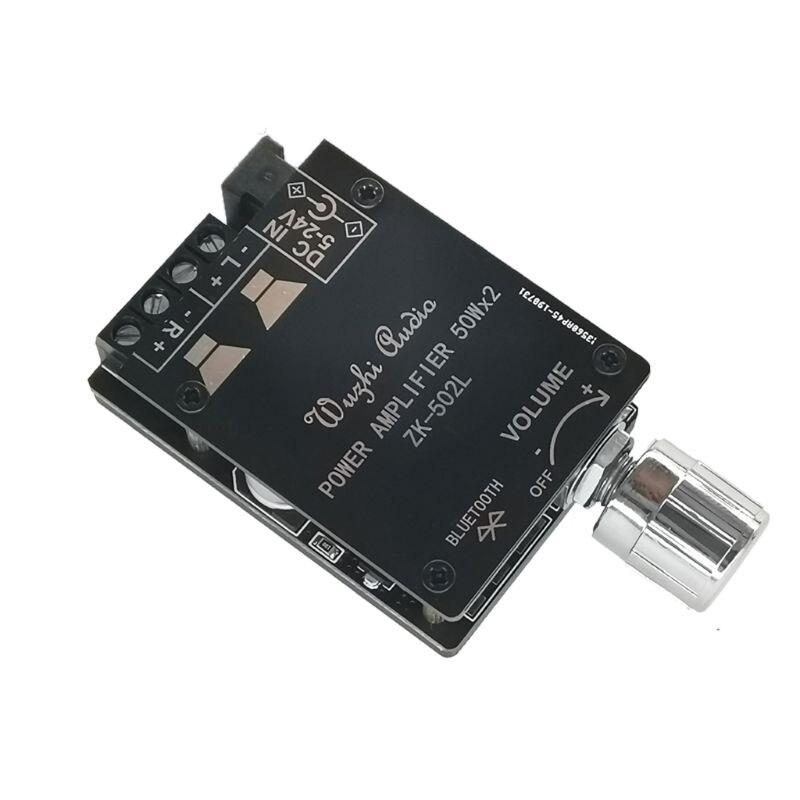 Nueva placa amplificadora Bluetooth MINI 5,0 de ZK-502L potencia de Audio Digital...