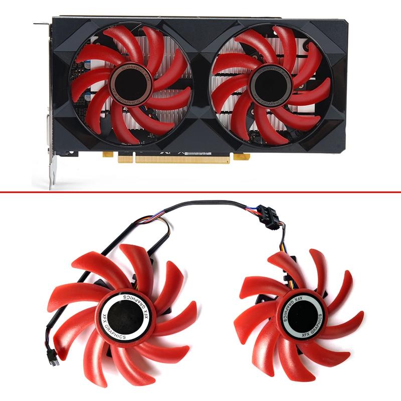 2 шт. 85 мм FDC10H12S9-C 4PIN RX560 вентилятор охлаждения для его XFX RX 570 550 RS R9 285 390X RX580 Графика видео карта, видеокарта вентиляторы