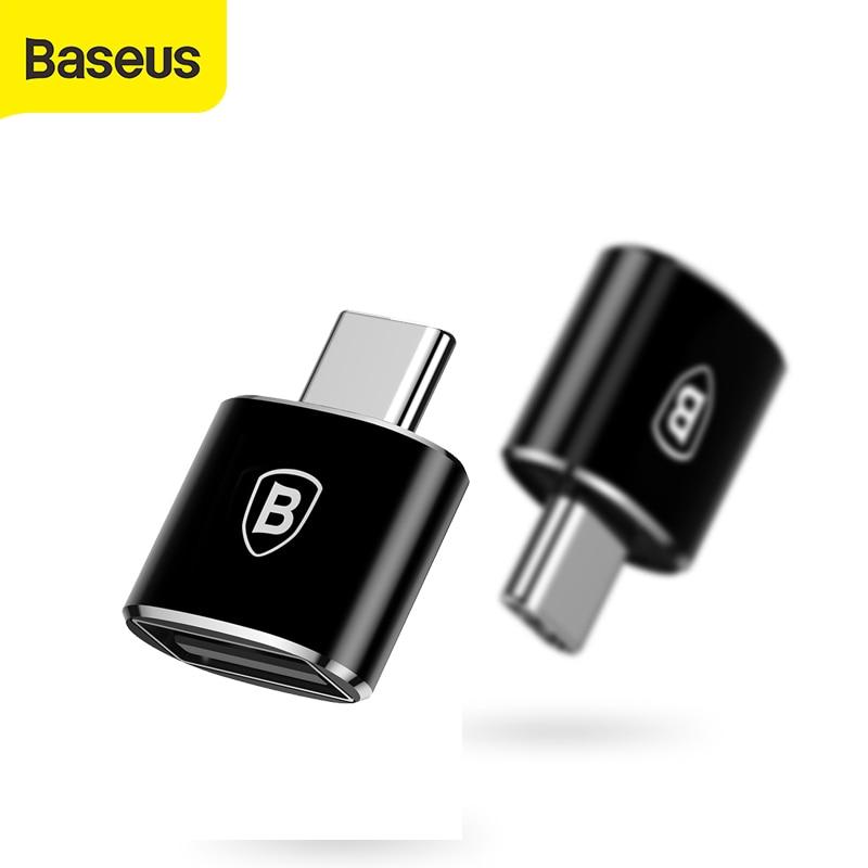Baseus-adaptador USB hembra a tipo C, convertidor OTG, macho, tipo c, para samsung galaxy S9, xiaomi