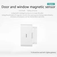 2021 ZigBee Smart Life Smart Door Sensor Window Sensor Door Magnetic Alarm Detector Independent Magnetic Sensor Home Security