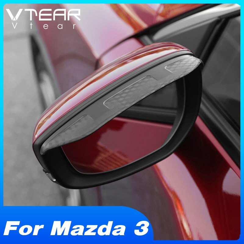 Vtear para Mazda 3 2020 hatchback, espejo retrovisor para lluvia, visera soleada, cubierta embellecedora, accesorios de modificación Exterior, pegatina