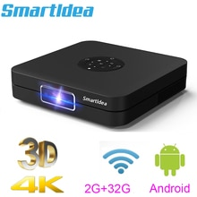 Smartldia K1 HD DLP العارض أندرويد 2G RAM 32G ROM 4K ثلاثية الأبعاد عالية السطوع النهار متعاطي المخدرات 5G واي فاي airplay لعبة فيديو proyector
