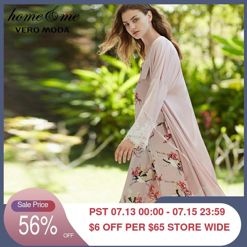 Bata de baño para mujer de estilo medio de encaje Sexy para Primavera de Vero Moda   31811r1503