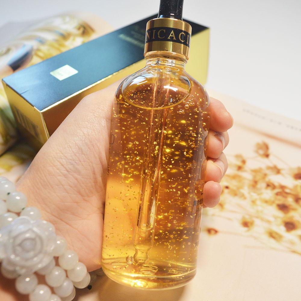 24k yellow Gold face serum anti aging serum facial lifting collagen Essence skin care whitening acido hialuronico Moisturizing недорого