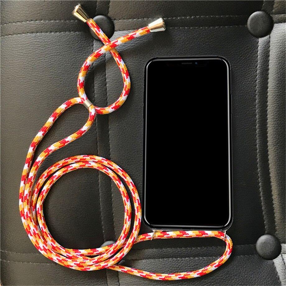 Lujosa funda de poliuretano termoplástico suave con correa cruzada para Samsung Galaxy Win i8552 i8558 i8550 Grand Quattro, funda para collar