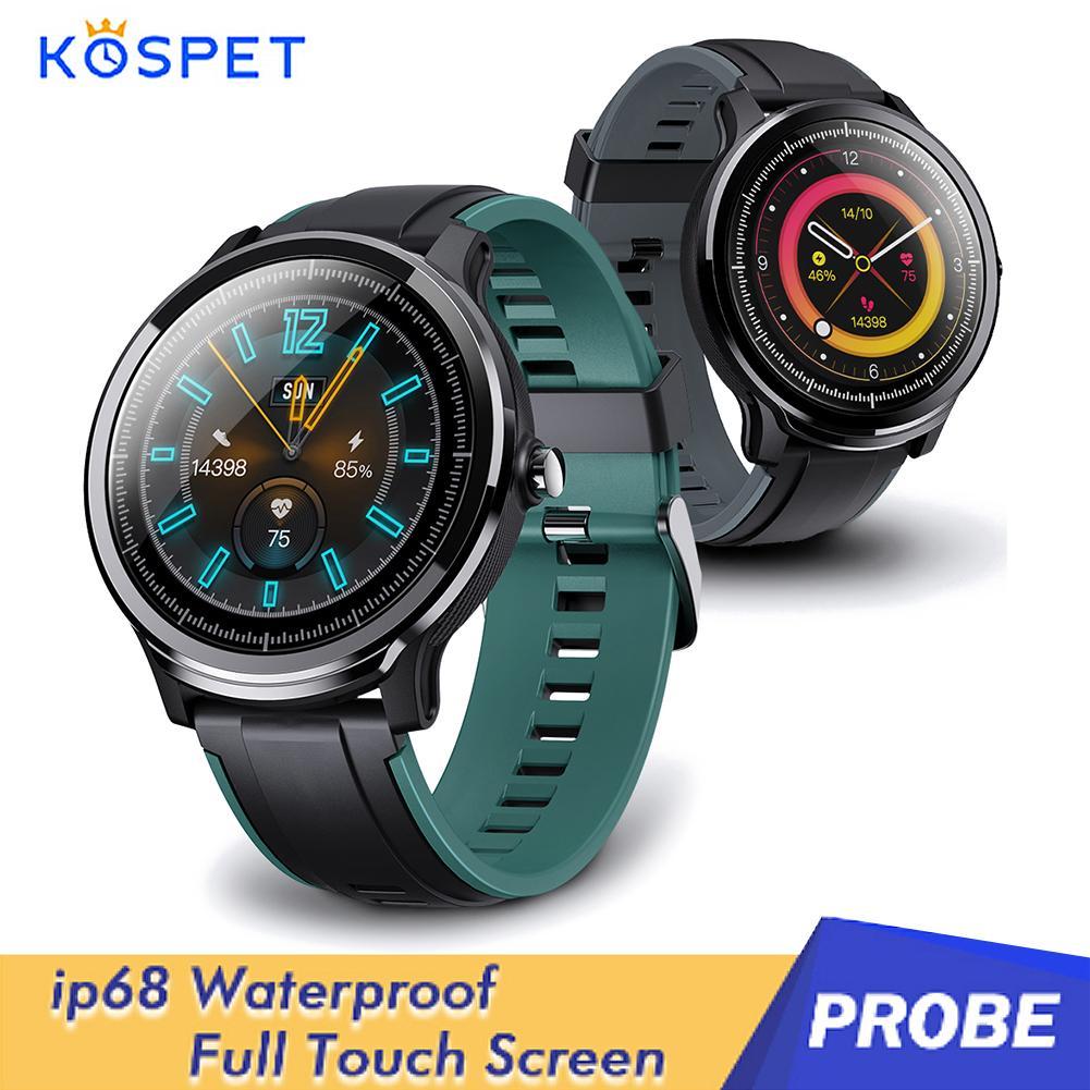 Kospet-ساعة رياضية ذكية مسبار ، متعددة الوظائف ، مقاومة للماء ، مع عداد الخطى ، شاشة تعمل باللمس ، مراقب الصحة ، سوار رياضي