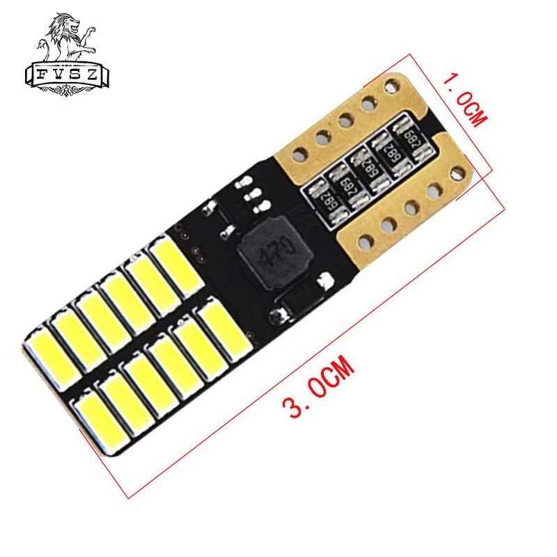 100 X T10 Led W5w 12 24v 4014 Car Lamp From Canbus 24 Smd 6500k Great Seller Light Emitting Diodes Independent Bulb Produto Signal Lamp Aliexpress