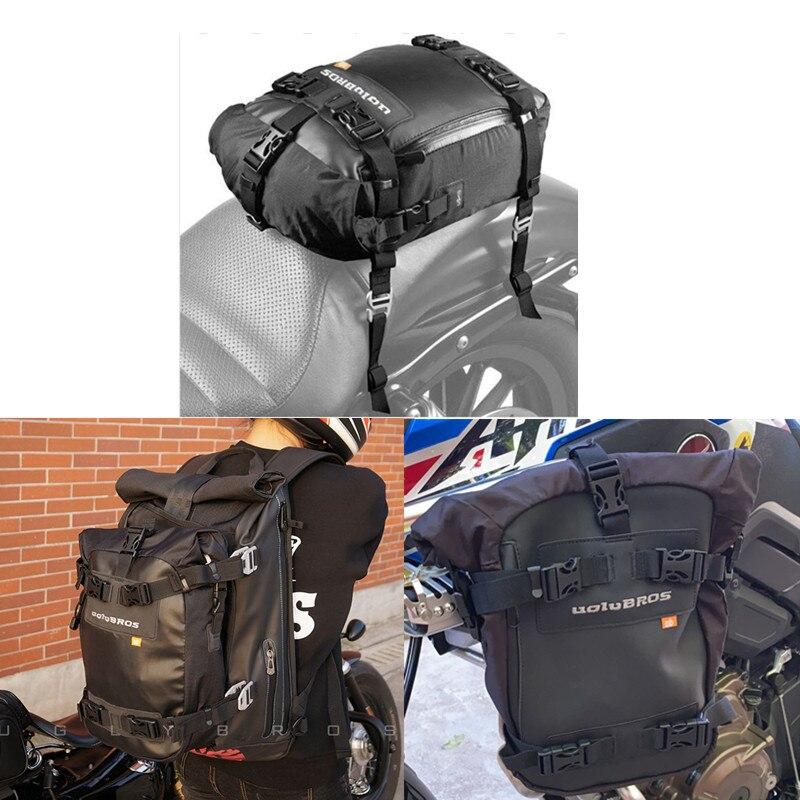 Motocicleta bolsa de asiento trasero impermeable moto bolso para lateral de parachoques bolsa en bolsa para R1200GS de aleación de aluminio de equipaje bolsa modificada
