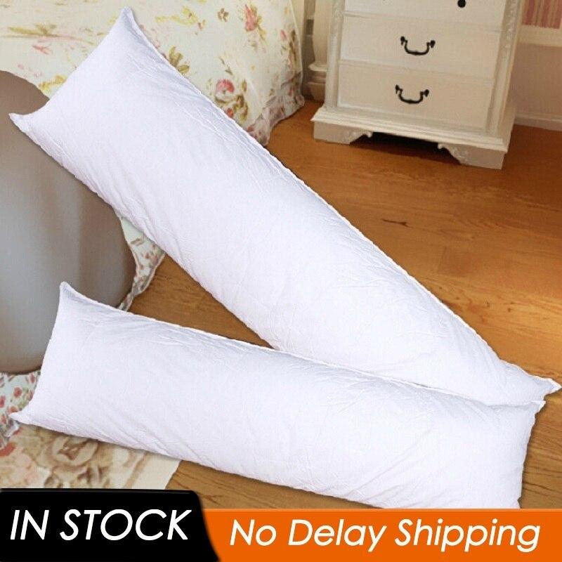 150x50 см длинная белая Подушка внутренняя подушка для тела аниме Прямоугольная подушка для сна домашняя спальня белое постельное белье