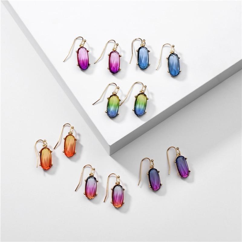 ZFYIN Позолоченные геометрические каучуковые серьги-капли для женщин-2020 Летние Красочные Серьги