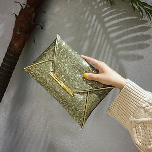 Foreign Trade Clutch One Shoulder New Modern Elegant Sequined Envelope Clutch Personality Dinner Bag Big Factory Direct Sales