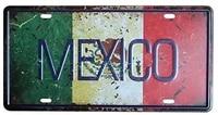 mexico car auto tag metal license plate vintage home decor bar pub cafe tin sign inch