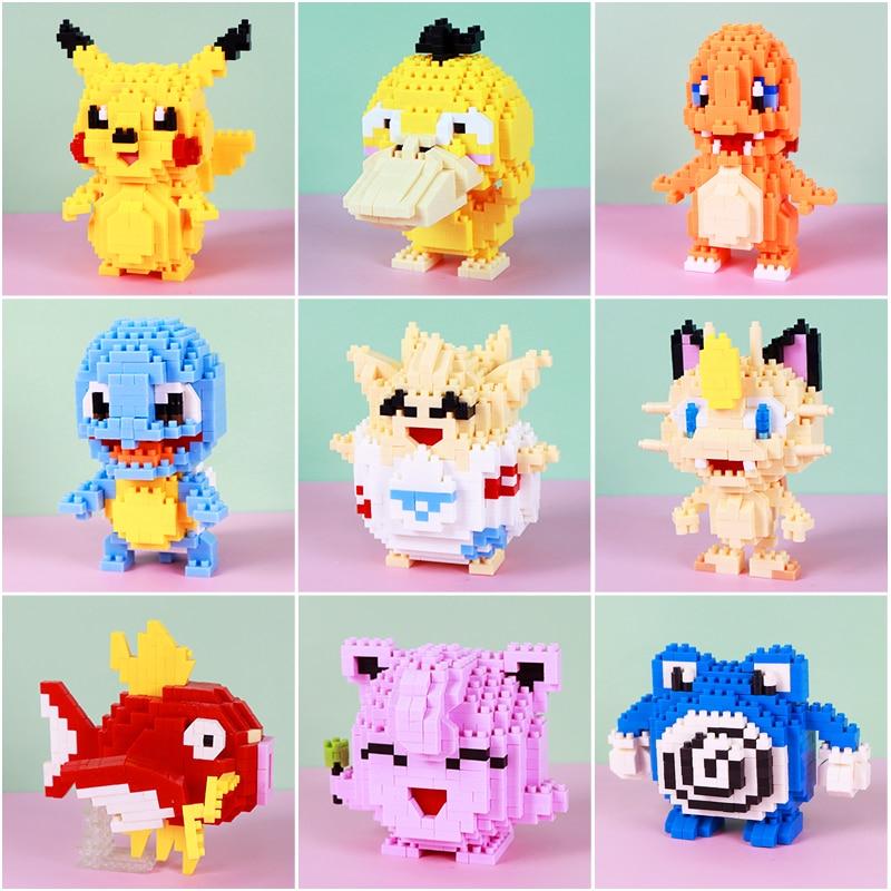 bloques-de-construccion-de-pokemon-42-estilos-charmander-squirtle-bulbasaur-pikachu-muneco-de-anime-modelo-de-plastico