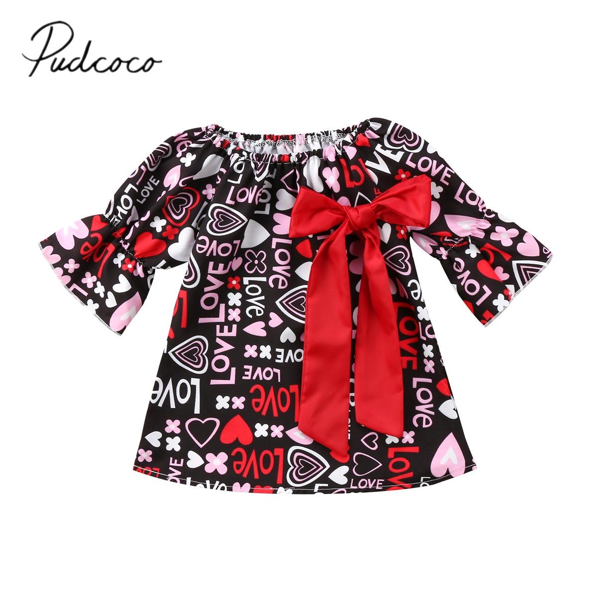 2020 ropa de verano para bebé, niño, Chico, bebé, niñas, amor, arco, fiesta de San Valentín, desfile, ropa Formal