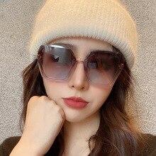 Abay 2021 Fashion Tea Gradient Sunglasses Women Ocean Water Cut Trimmed Lens Sun Glasses Female Driv
