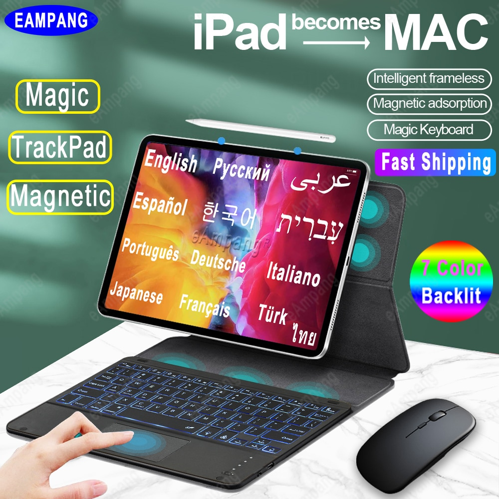 Wireless Magic Keyboard for iPad Air 4 2020 10.9 Keyboard Case iPad Pro 11 12.9 2018 2020 2021 Air 4th Generation Magnetic Cover