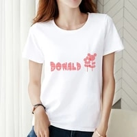 t shirts disney daisy donald duck summer clothes for women o neck painting short sleeve cartoon printing tops casual clothing