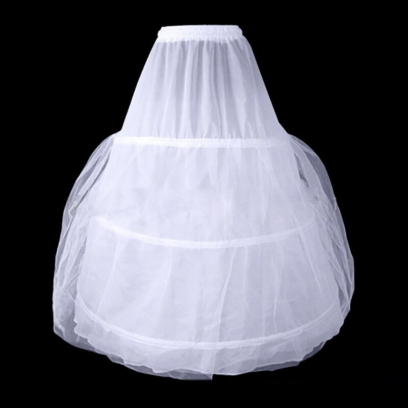 Enaguas Inofinn en Stock 3 aros para vestido de boda accesorios de boda Crinoline barato para vestido de baile