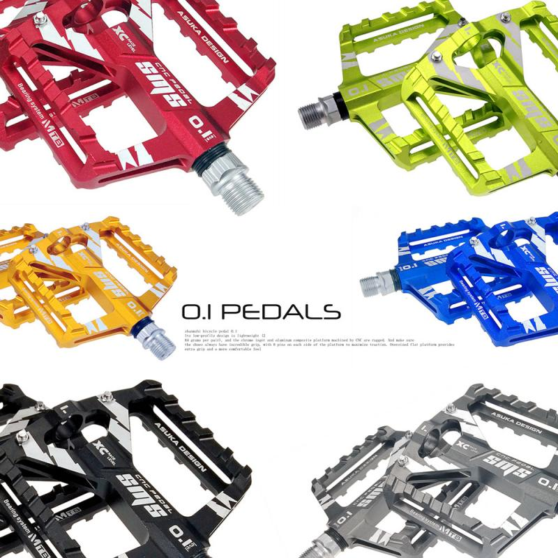 Mountain Bike Pedals Platform Bicycle Flat Alloy Pedals Wear-resistant Outdoor Sports Bearings Pedal