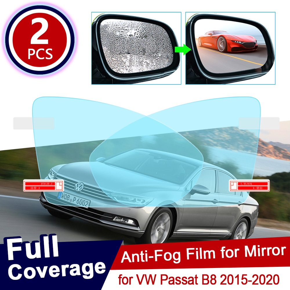 for Volkswagen VW Passat B8 2015~2020 Full Cover Anti Fog Film Rearview Mirror Rainproof Foils Anti-Fog Films Clear Accessories