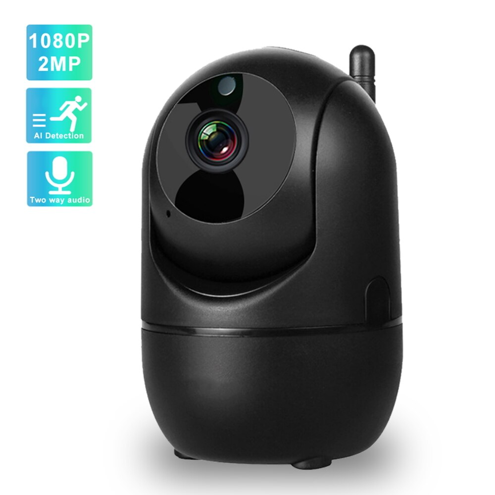 Night Vision Auto Track Two Way Audio Wireless Home Security Camera CCTV IP Camera 1080P 2MP Surveillance Cameras with Wifi IR