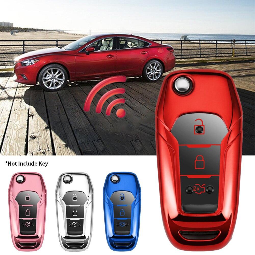 Carcasa protectora de mando a distancia de coche inteligente de TPU para Ford Mondeo, guarda de explorador, F250 Ecosport F150, protección de llave de coche