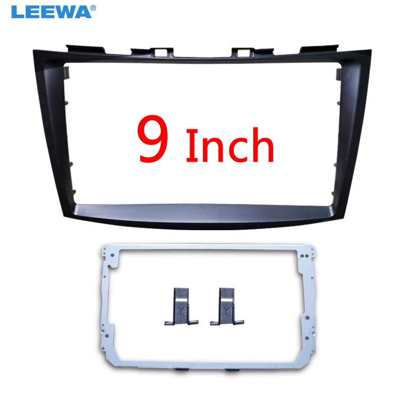 "LEEWA Car Audio 9"" Big Screen 2DIN Fascia Frame Adapter For Suzuki Swift Stereo Dash Fitting Panel Frame Kit #CA6204"