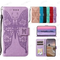 new rose butterfly flip leather case for huawei p40 p30 p20 p smart pro plus lite e play4 t mate 40 20 lite 2019 case cover capa