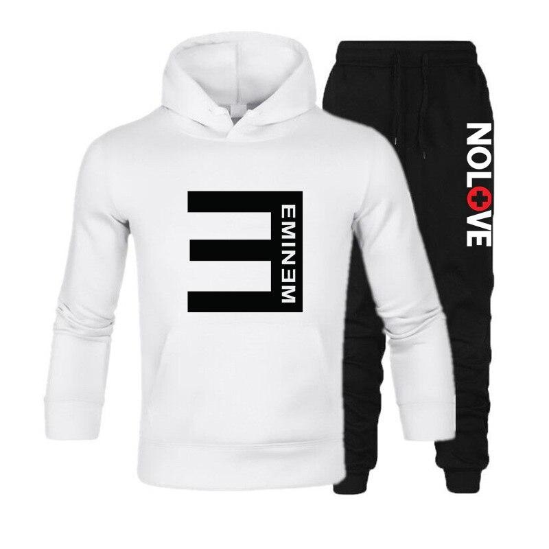 ¡Novedad de 2020! Sudadera con estampado de letras de Eminem, Sudadera con capucha de color liso a la moda para hombre, Sudadera con capucha para hombre