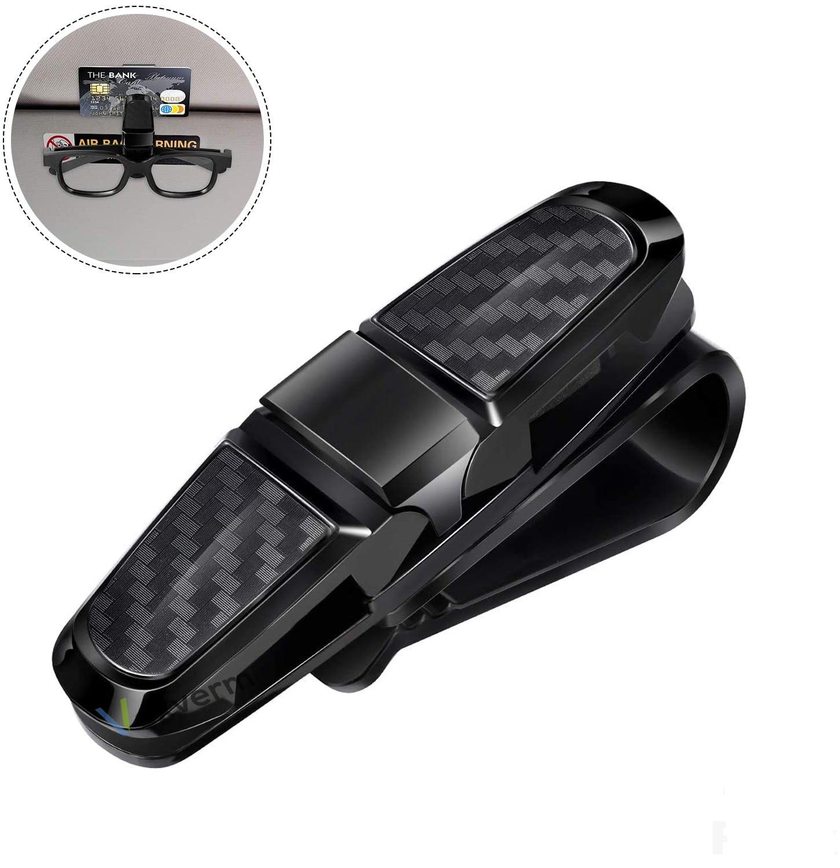 Автомобильный держатель для очков Vexverm, портативный зажим для билетов, карточек солнцезащитный козырек, зажим для очков из АБС-пластика, авт...