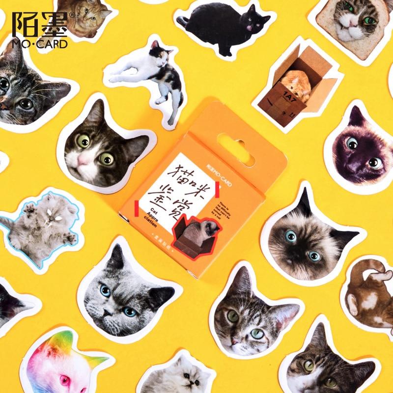 46-pz-pacco-simpatici-gatti-adesivi-diario-scrapbooking-etichette-decorative