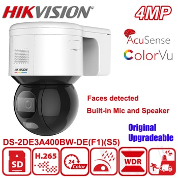 Hikvision DS-2DE3A400BW-DE(F1)(S5) 3-inch 4MP ColorVu Faces Detected Network Speed Dome Full Color CCTV PTZ Camera