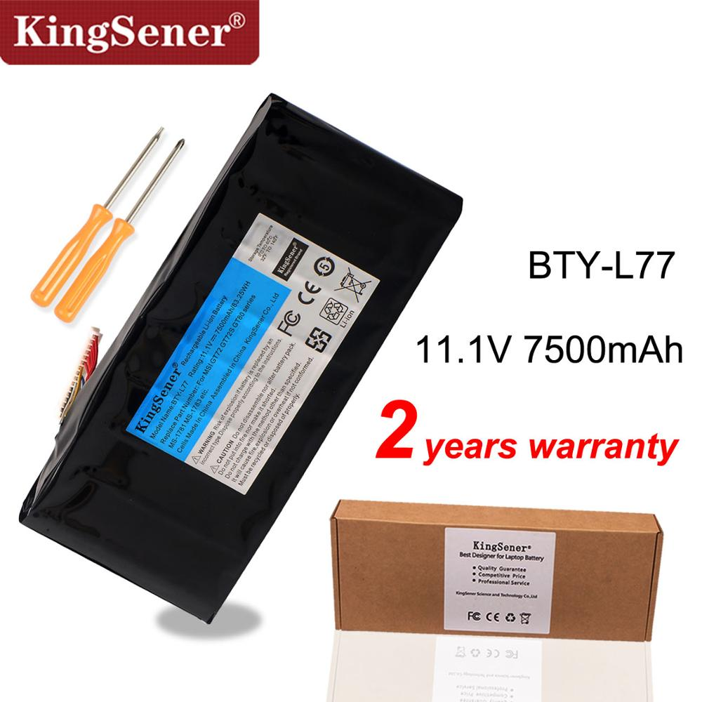 KingSener BTY-L77 Аккумулятор для ноутбука MSI GT72 2QD GT72S 6QF GT72VR WT72 MS-1781 MS-1782 2PE-022CN 2QD-1019XCN 2QD-292XCN
